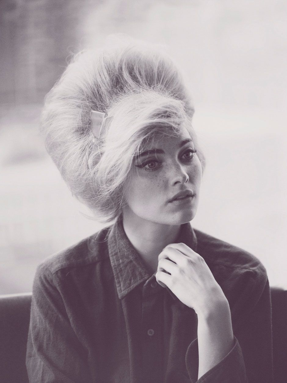 Elsa Hosk with a 60s look http://www.fashionising.com/trends/b--60s-hair-1960s-hairstyles-37455.html