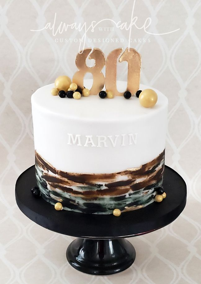80th Birthday Cake Male Dads 80th Cake In 2019
