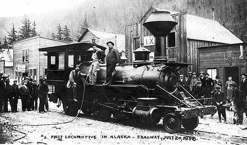 The First Locomotive In Alaska Purchased By White P And Yukon Railroad Skagway