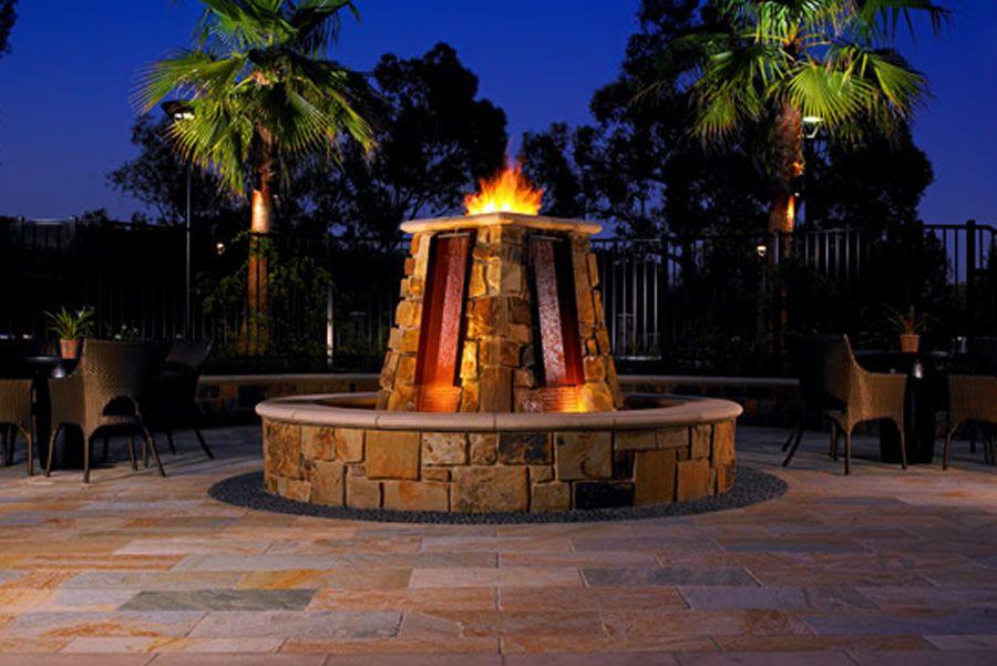 Luxury Elegant Bar Fire Pit Interior Design of The Westin Verasa Napa  Hotel, California - Luxury Elegant Bar Fire Pit Interior Design Of The Westin Verasa