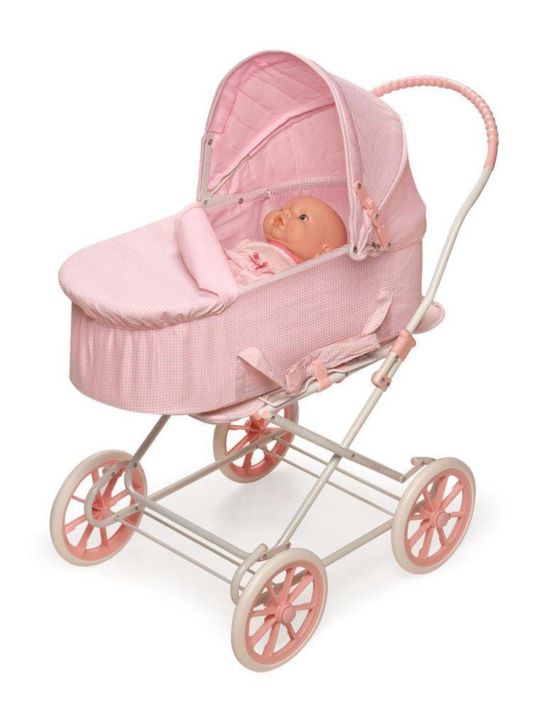 Pink Gingham 3 In 1 Doll Pram Kids Toys And Decor Dolls Prams