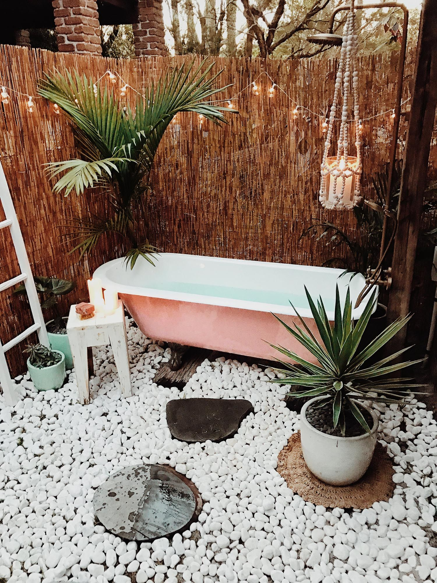 Boho Bathroom Shower