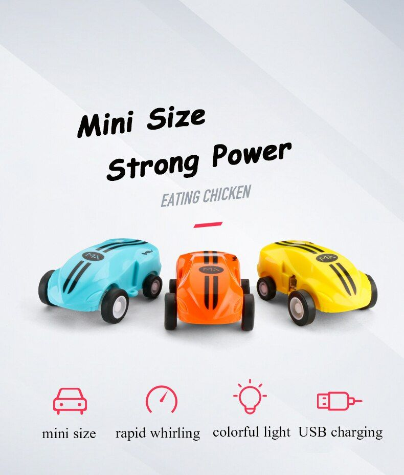 High Speed Mini Racing Car Toys Colorful Led Light Stunt Cars