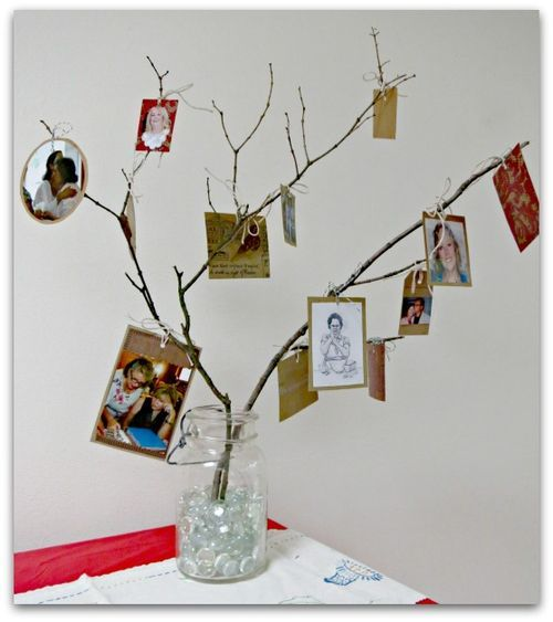 A family tree centerpiece for our reunion some things i