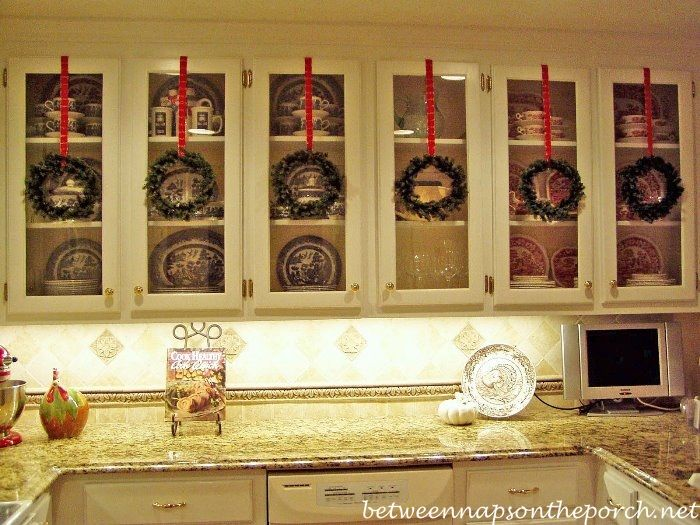 Kitchen Cabinet Christmas Decor B4 And Afters Felt Gingerbread People Christmas Kitchen Decor Easy Christmas Decorations Simple Christmas Decor