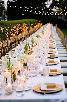 Family Style Long Table Seating Wedding Reception Wedding