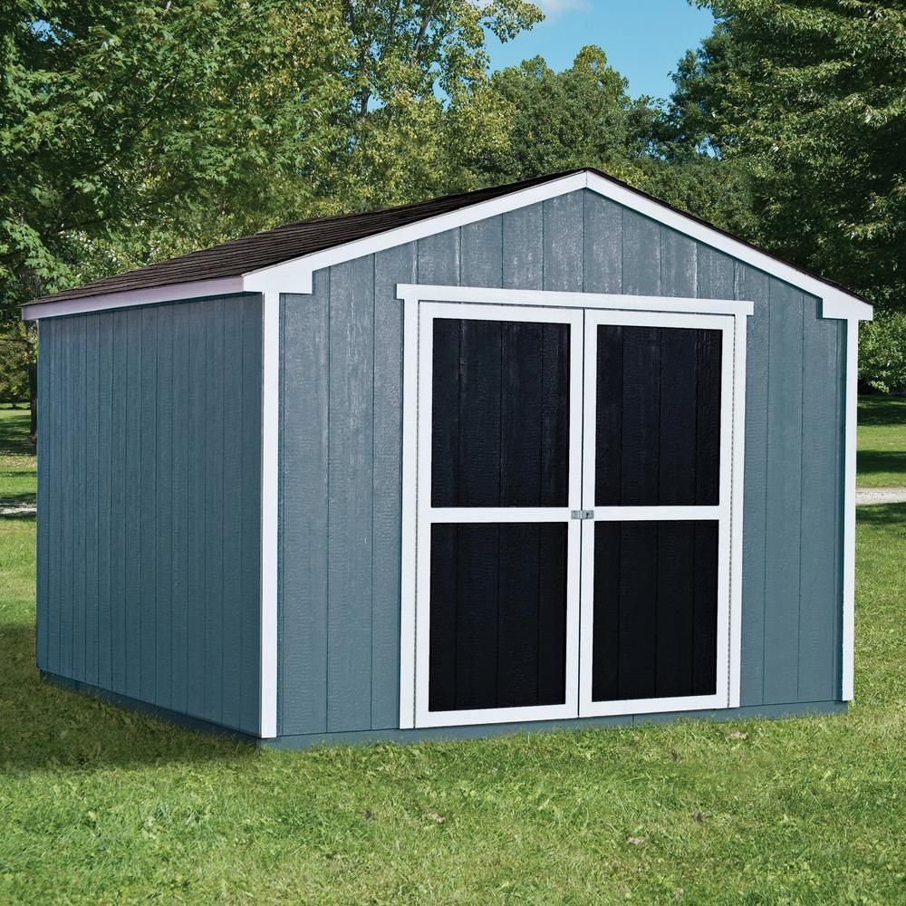 Handy Home Products Do It Yourself Princeton 10 Ft X 10 Ft Wood Storage Shed Building 18250 1 The Home Depot Wood Storage Sheds Shed Barns Sheds