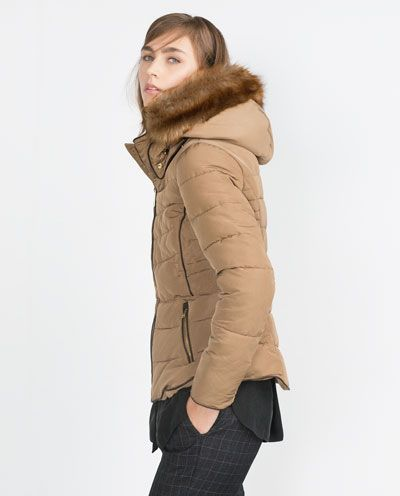 Image 4 Of ANORAK WITH DETACHABLE HOOD From Zara | Winter 2015-2016 | Pinterest | Hoods Coats ...