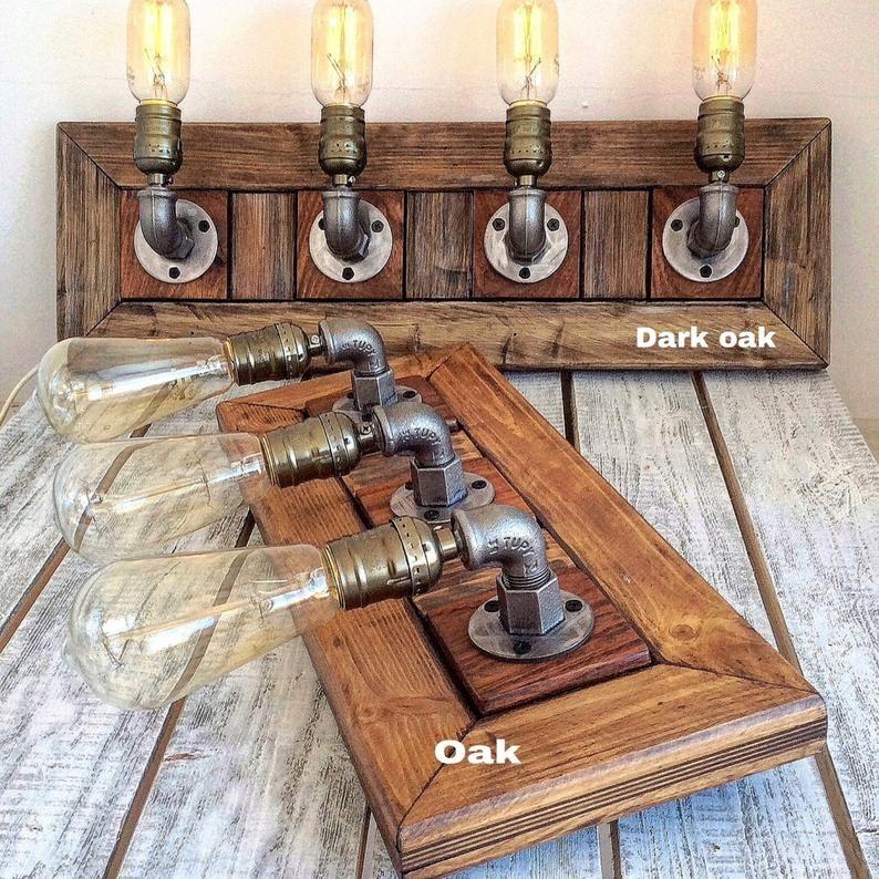 Photo of Bathroom VANITY Light Fixtures, Rustic Bathroom Vanity, Bathroom Lighting, Farmhouse Bathroom Wall Lights, Handmade, Farmhouse Vanity LIGHT