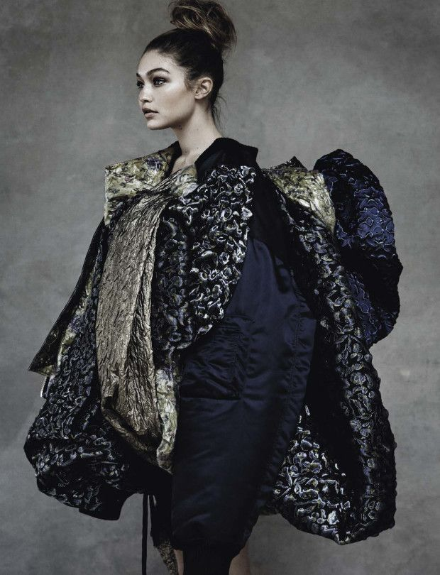 Gigi Hadid wears Maison Margiela Artisanal in 'Individuallure' by Patrick Demarchelier for Vogue Italia, April 2016.
