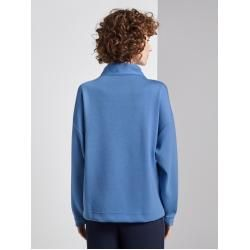 Photo of Tom Tailor Damen Sweatshirt mit Turtle-Neck, blau, unifarben, Gr.S Tom TailorTom Tailor