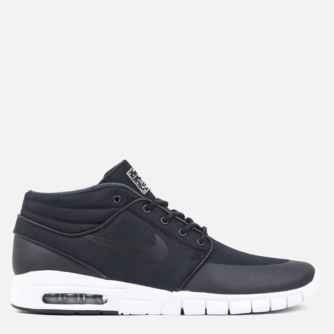 online store f563e ed4f0 Nike SB Stefan Janoski Max Mid - Black Black Metallic Silver White – Commonn