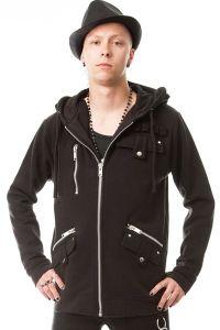 Vixxsin - Sweat Jacke mit Kapuze und Zippern - Brutus Hood
