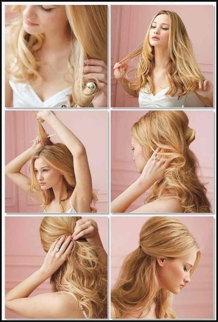 Die Fabelhaften Einfache Frisuren Mit Locken Frauen Stile