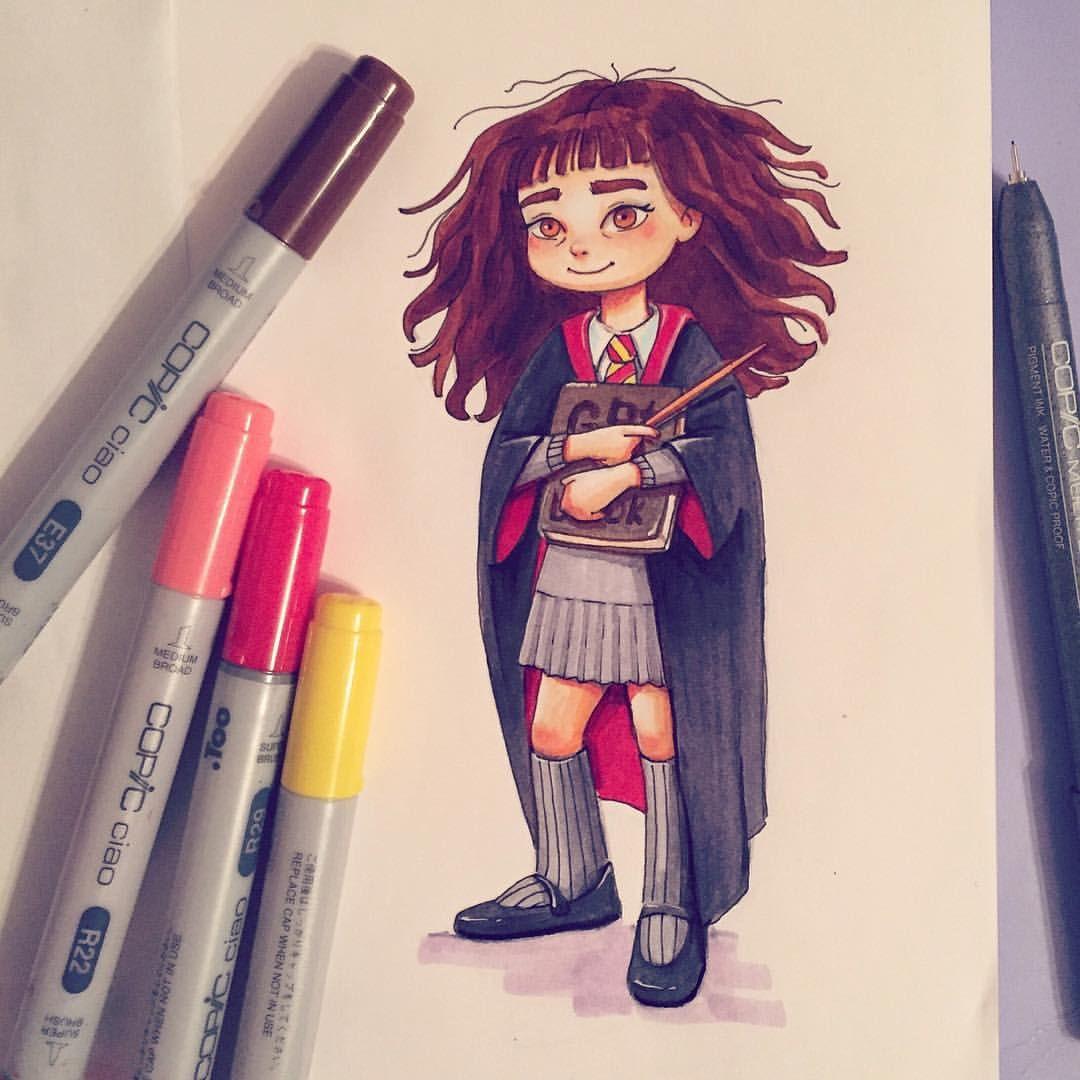 Germione Harrypotter Girl Doodle Design Art Artist Sketch