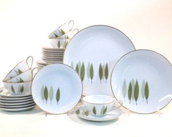 Vintage Noritake China Sugi Dinnerware Set / Service for 8 / Mid Century Modern Dishes / 38-Piece Set / 6030  sc 1 st  Pinterest : mid century modern dinnerware - pezcame.com