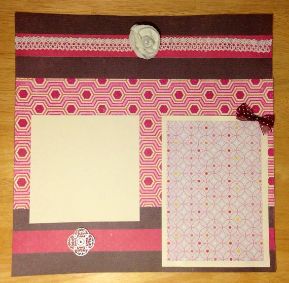 GRACE 12x12 Premade Scrapbook Pages by ScrapbookWeaver on Etsy, $12.00