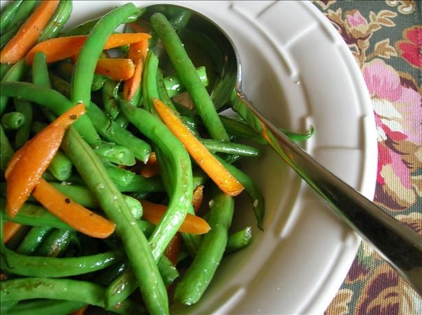 Green Beans And Carrots Sauteed In Butter And Garlic Recipe