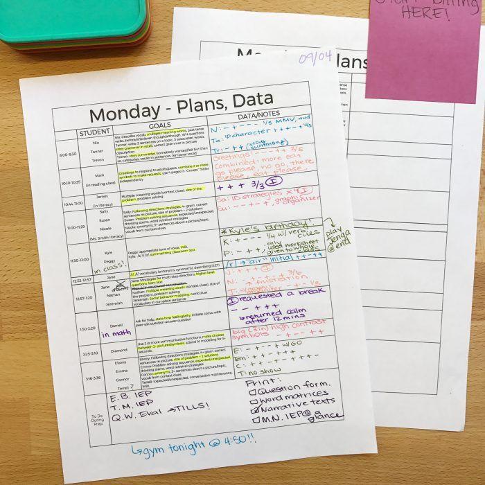 Google Sheets Templates For SLPs: Organization, Data