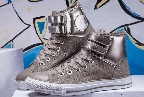 Leather Velcro Strap All Star High Tops
