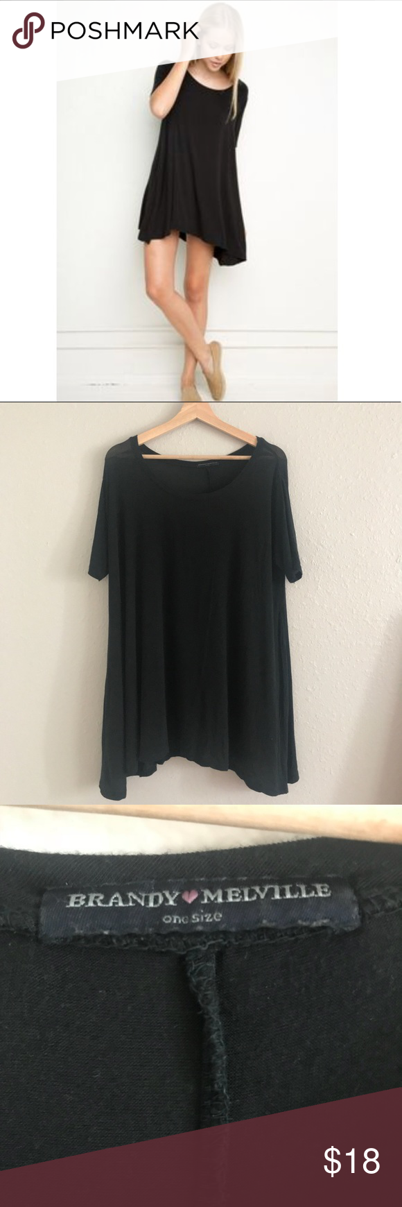 Brandy melville short sleeve tshirt dress my posh picks