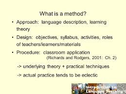 what is eclectic method of teaching