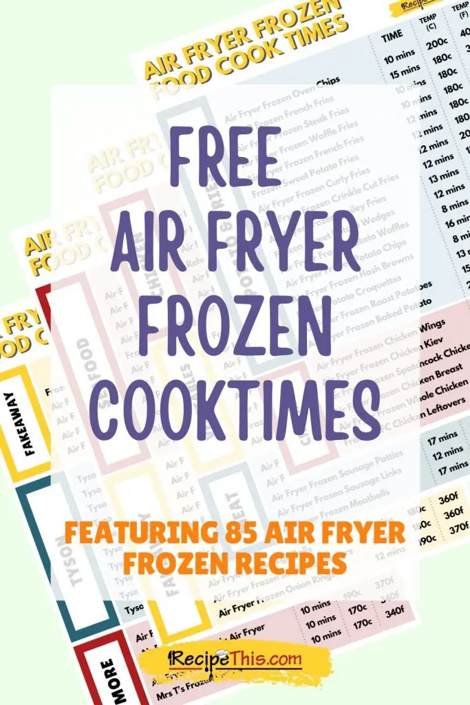 Air Fryer Frozen Food Cook Times Recipe This in 2020