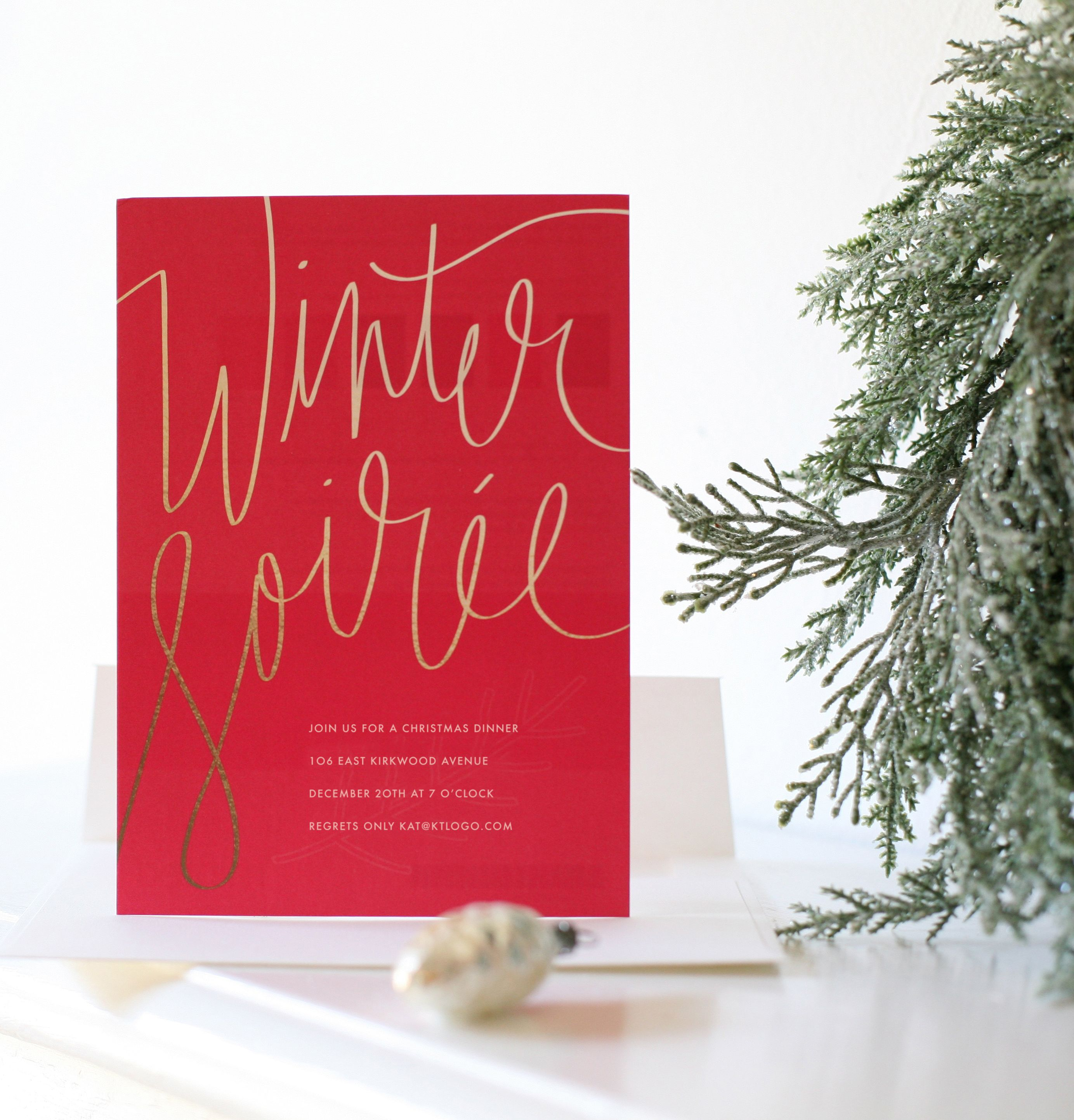 Minted Christmas Dinner Invitation: Plan a Winter Soiree Party Theme ...