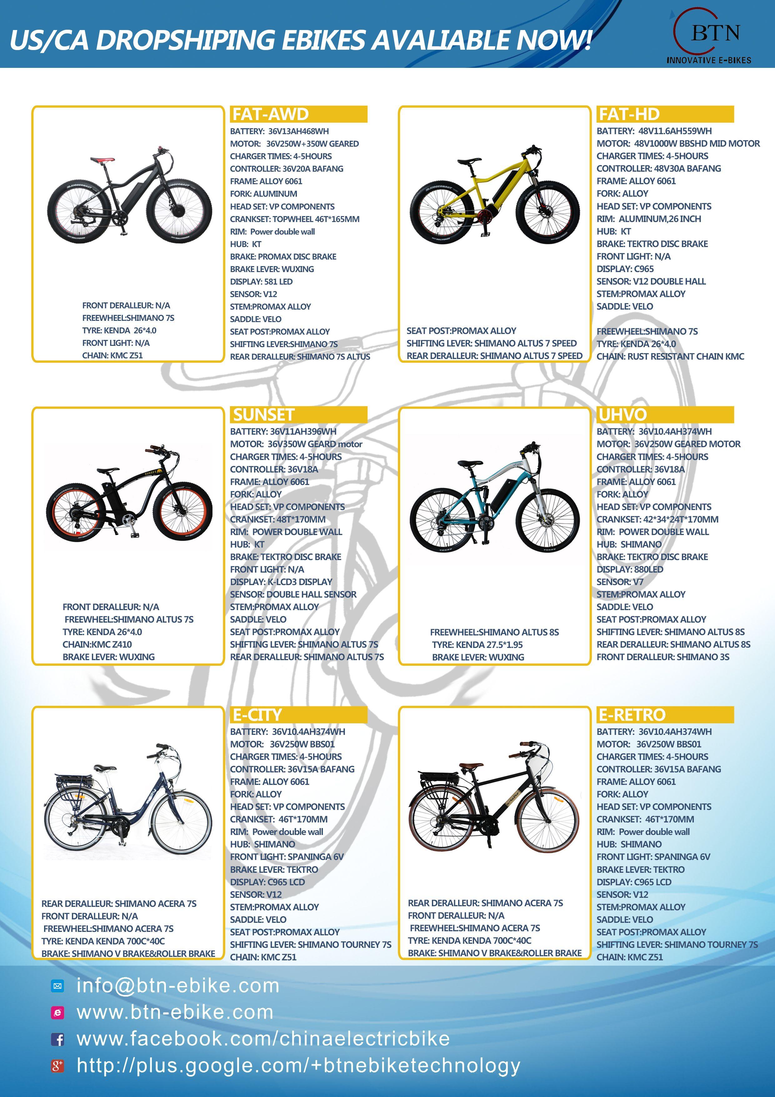 US/CA drop shipping electric bike, You can get a reasonable