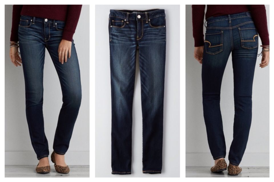 9d43b3a2aa BEST jean for Apple Shape and Flat Butt. American Eagle. Denim x. Skinny  Jean, Rich Ink. 2015