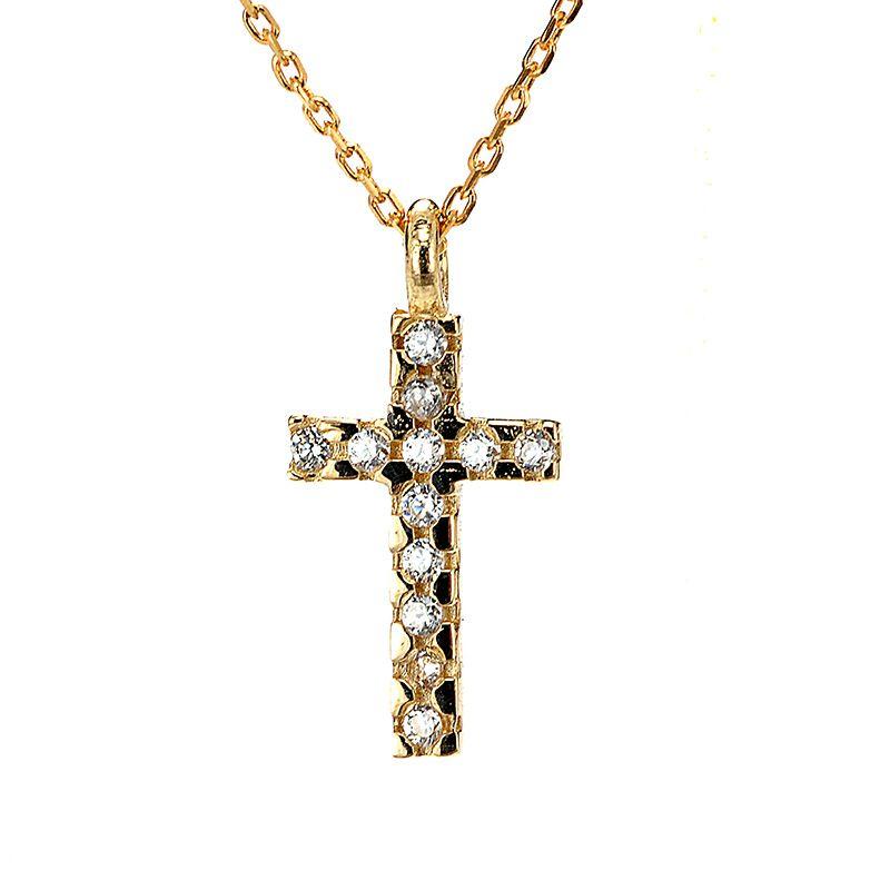 κολιέ σταυρός χρυσό κ14 ζιργκόν 8533  45eaab608ec