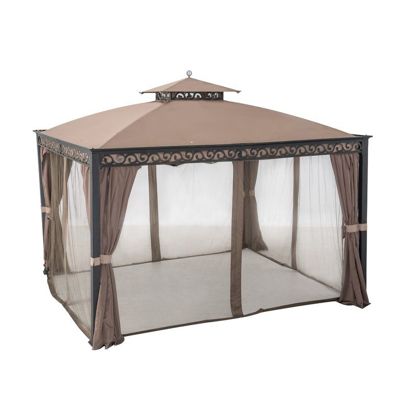 Webberly 12 Ft W X 10 Ft D Steel Patio Gazebo Gazebo Patio Gazebo Aluminum Gazebo