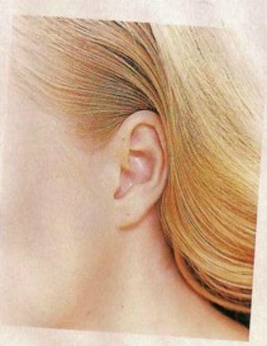 angelica : a orelha e pescoço de Angelica