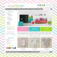 Premade Boutique Website Package - Cool Colorful Chevron