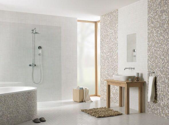 Badezimmer Mosaik ~ Badezimmer mit wandfliesen mit mosaik moderne wandgestaltung bad