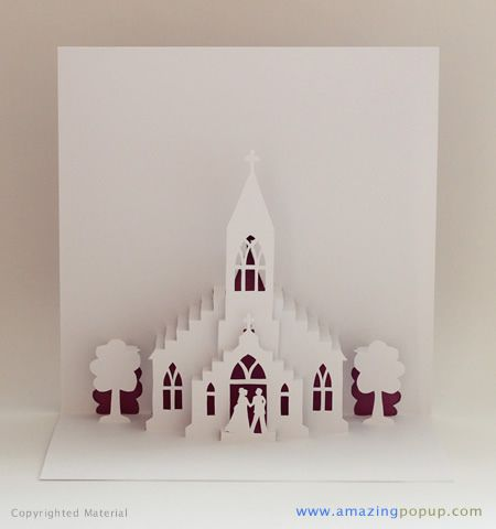 Little Church Wedding Popup Card Www Amazingpopup Com It Flickr Photo Sharing Diy Pop Up Cards Diy Christmas Cards Pop Up Invitation