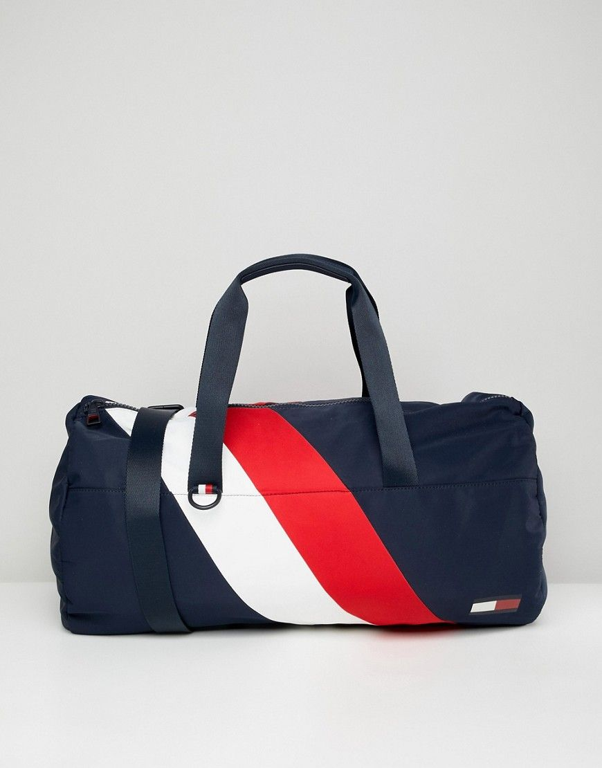 d092491582 TOMMY HILFIGER DUFFLE CHEVRON BAG IN BLUE - BLUE.  tommyhilfiger  bags   travel