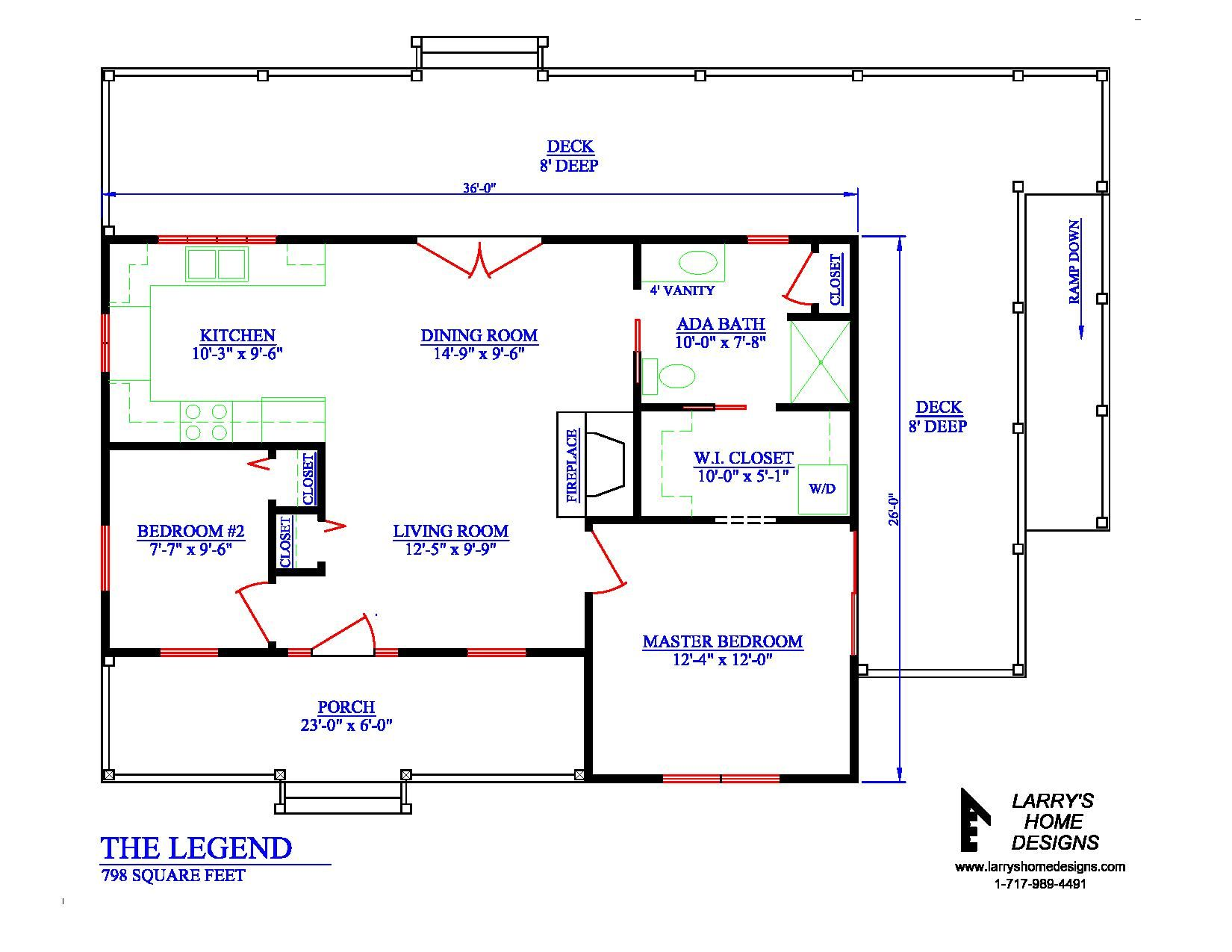 798 Sq Ft Wheelchair Accessible Small House Plans In 2020 Small House Plans House Floor Plans Home Addition Plans