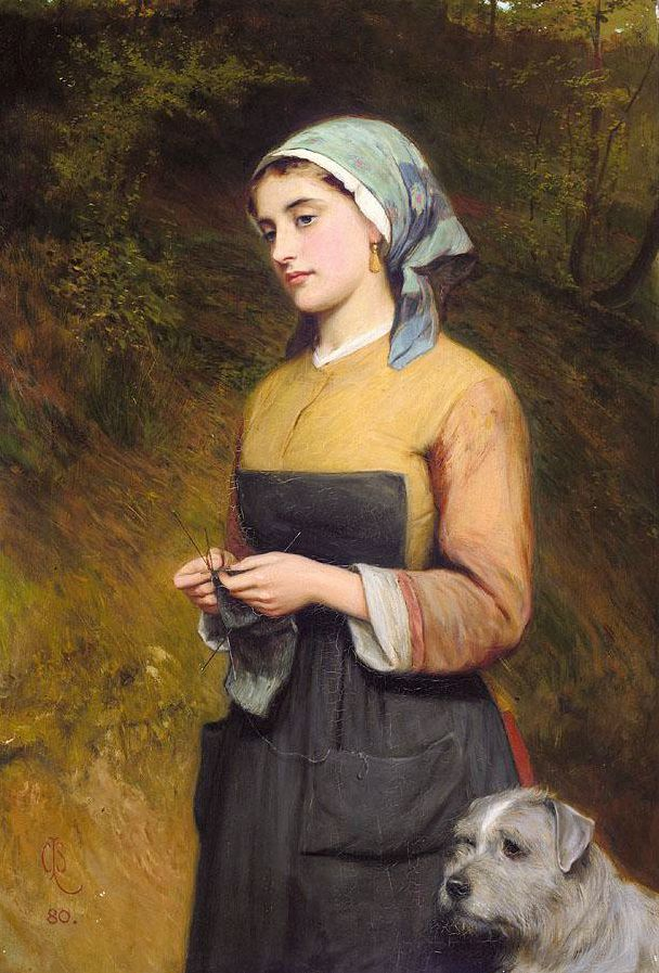"""""""Far Away Thoughts"""", by Charles Sillem Lidderdale (English,1831-1895)."""