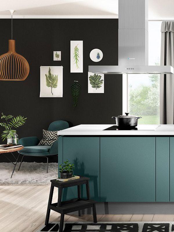 Die Küche ist ein Highlight in Aquamarin Die Fronten sind ultramatt - weiße küche arbeitsplatte