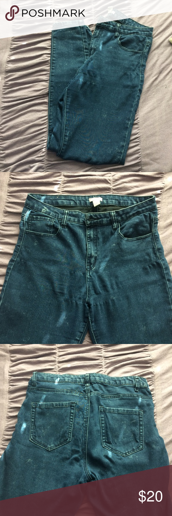 High waisted jeans Forever 21, used but good condition. Reason for selling is because I lost weight and they don't fit anymore. Super cute and comfortable jeans. Forever 21 Jeans Skinny