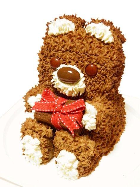 3d立体 チョコのクマちゃんケーキ by おとめてお レシピ くま ケーキ チョコ チョコケーキ