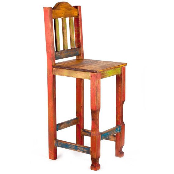 Rustic Pine Toung And Groove Interior Design: Rustic Bar Stool Set (5414)