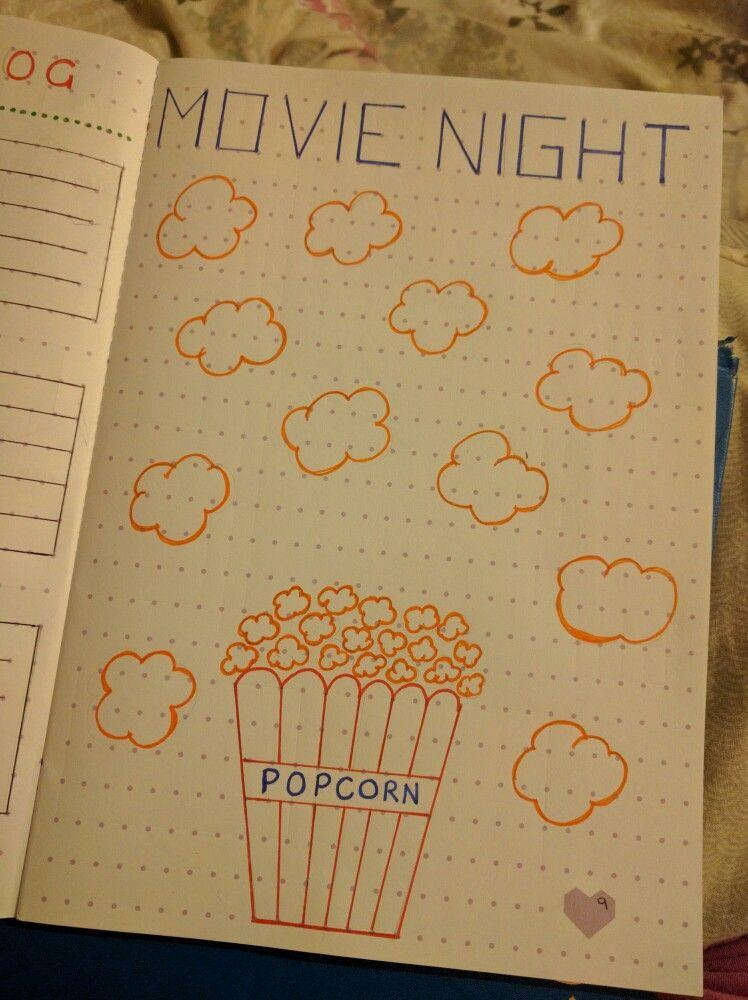 Movie Night Log Bullet Journal Bullet Journal Pinterest Bullet