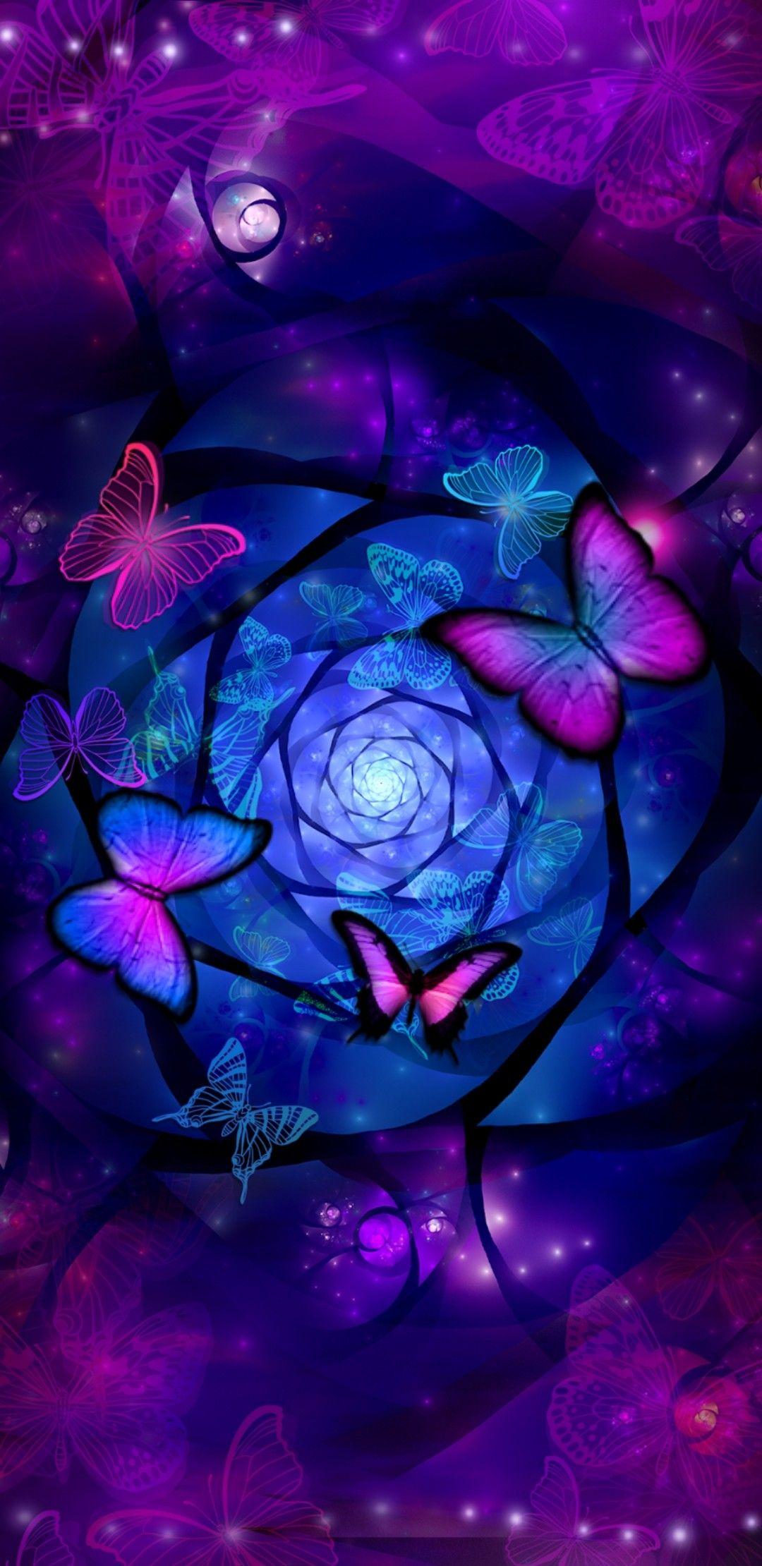 Pink Purple Blue Butterfly S Purple Butterfly Wallpaper Blue Butterfly Wallpaper Butterfly Wallpaper