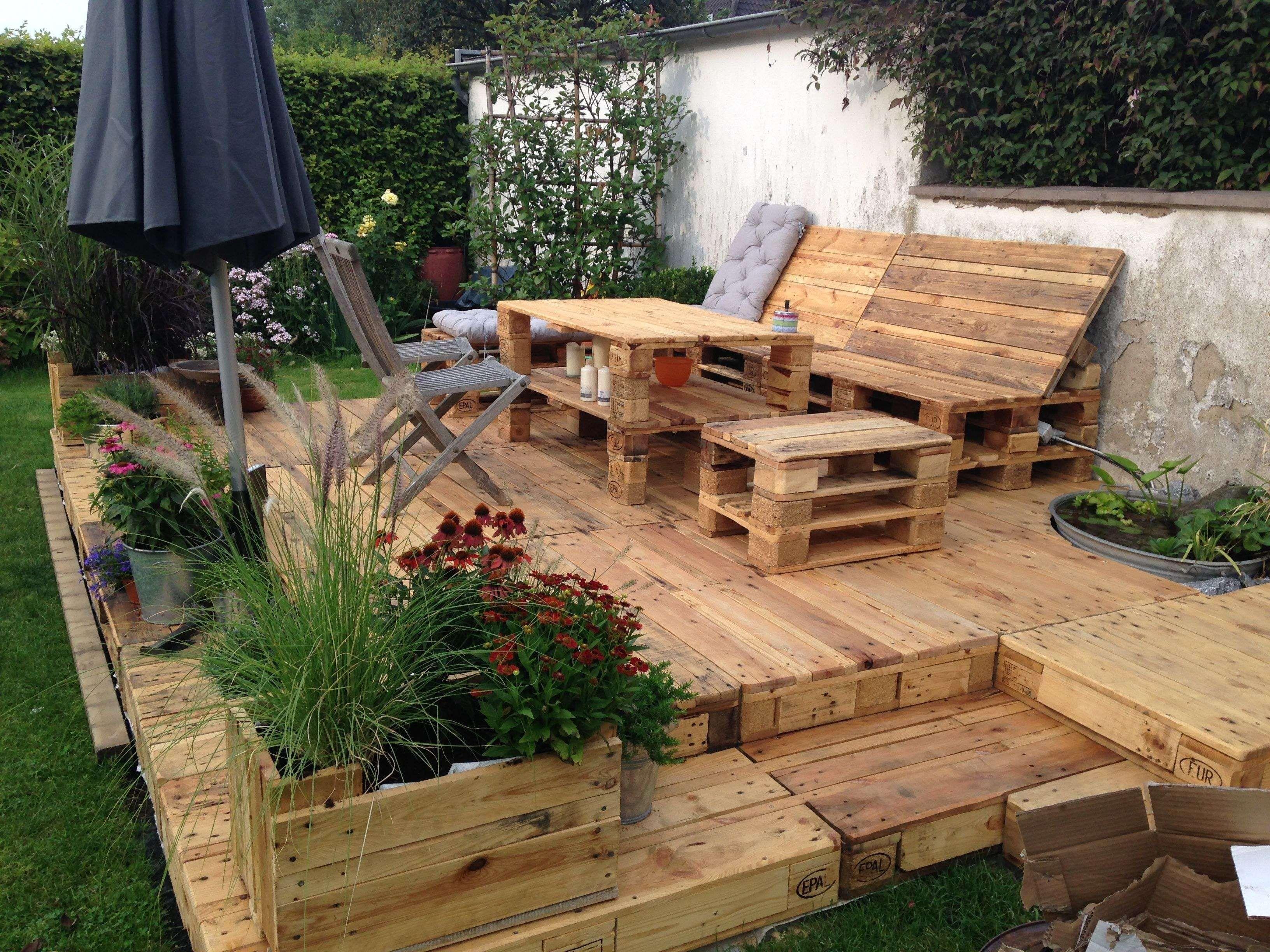 Sitzecke Garten Selber Bauen Sie Werden Neu Erstellen Von