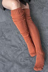 carrot slouch otk or knee socks
