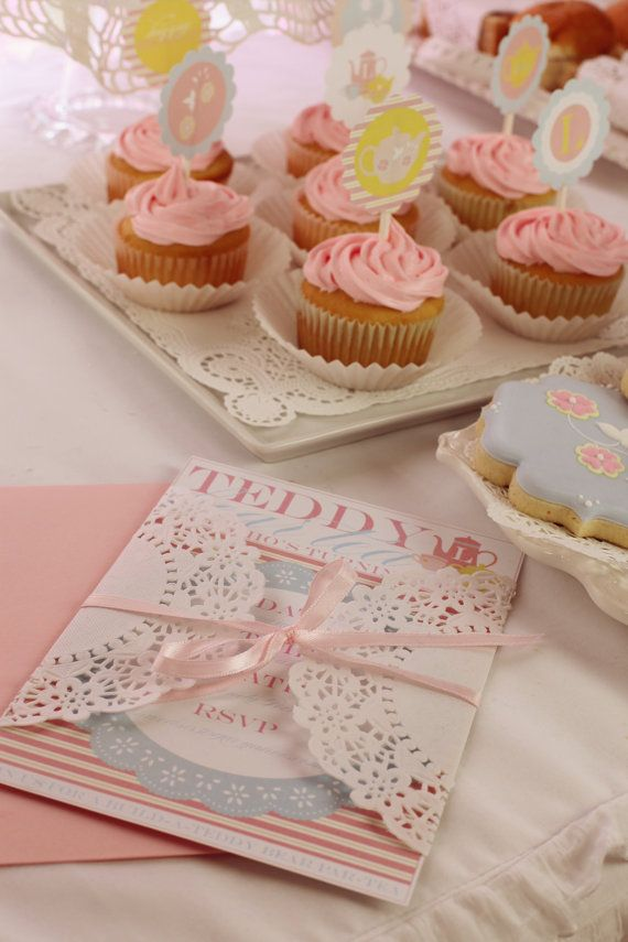 Frilly Tea Party Birthday PRINTABLE Party by lovetheday on Etsy ...