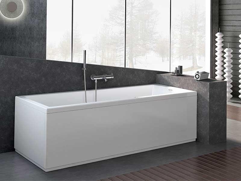 Jacuzzi moove vasca c telaio 170x70 iperceramica vasche da bagno pinterest - Pannelli vasca da bagno ...