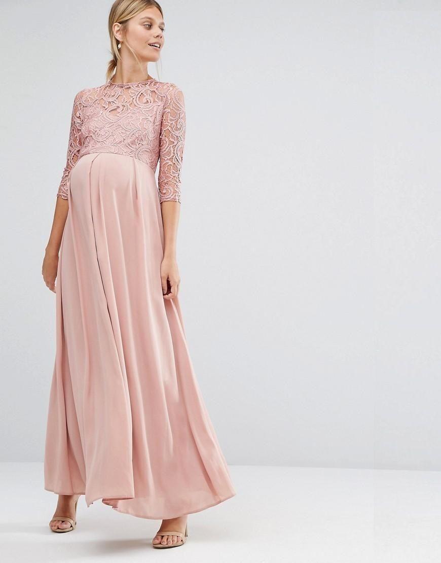 vestidos-para-embarazadas-como-invitada-de-boda-otoño-invierno-2017 ...